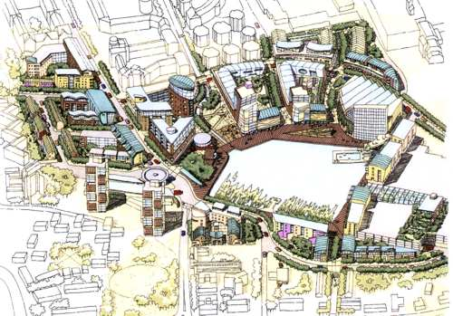 View of proposed development